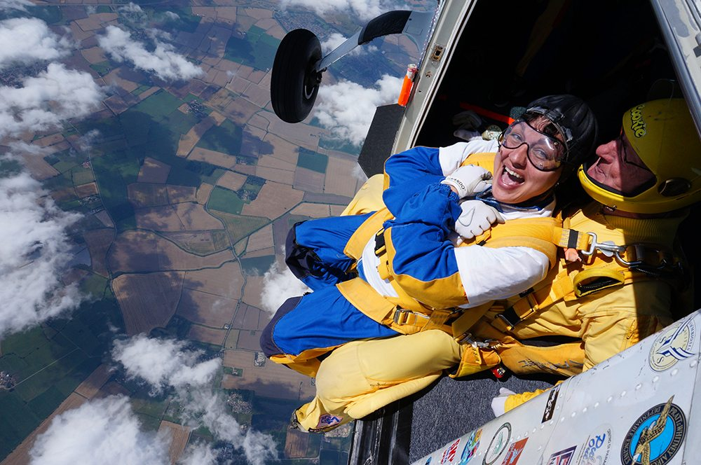 Michelle kangaroo inn skydive