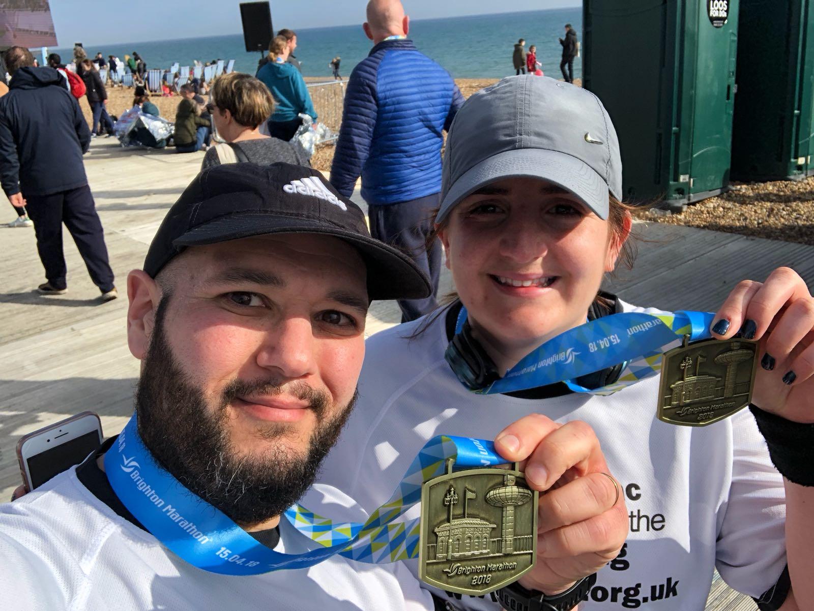 Ellie and Colin Brighton Marathon - MF James Moorfoot