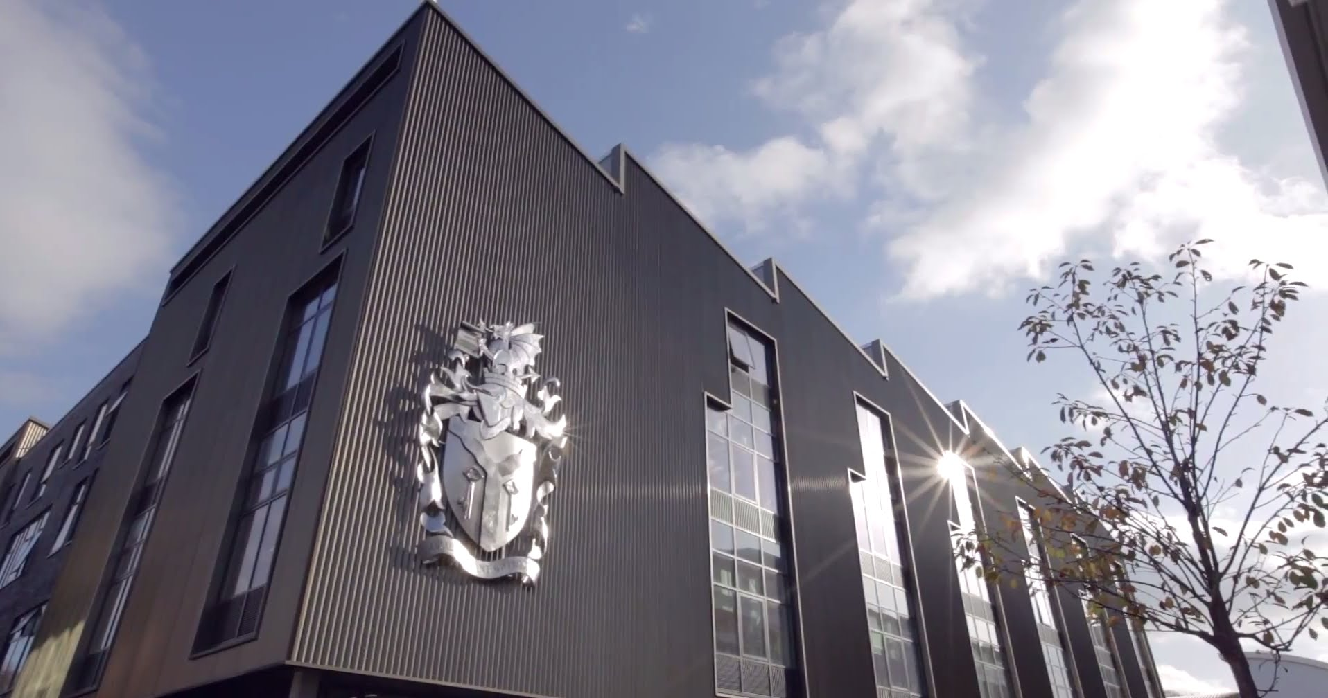 Cardiff Met logo on building