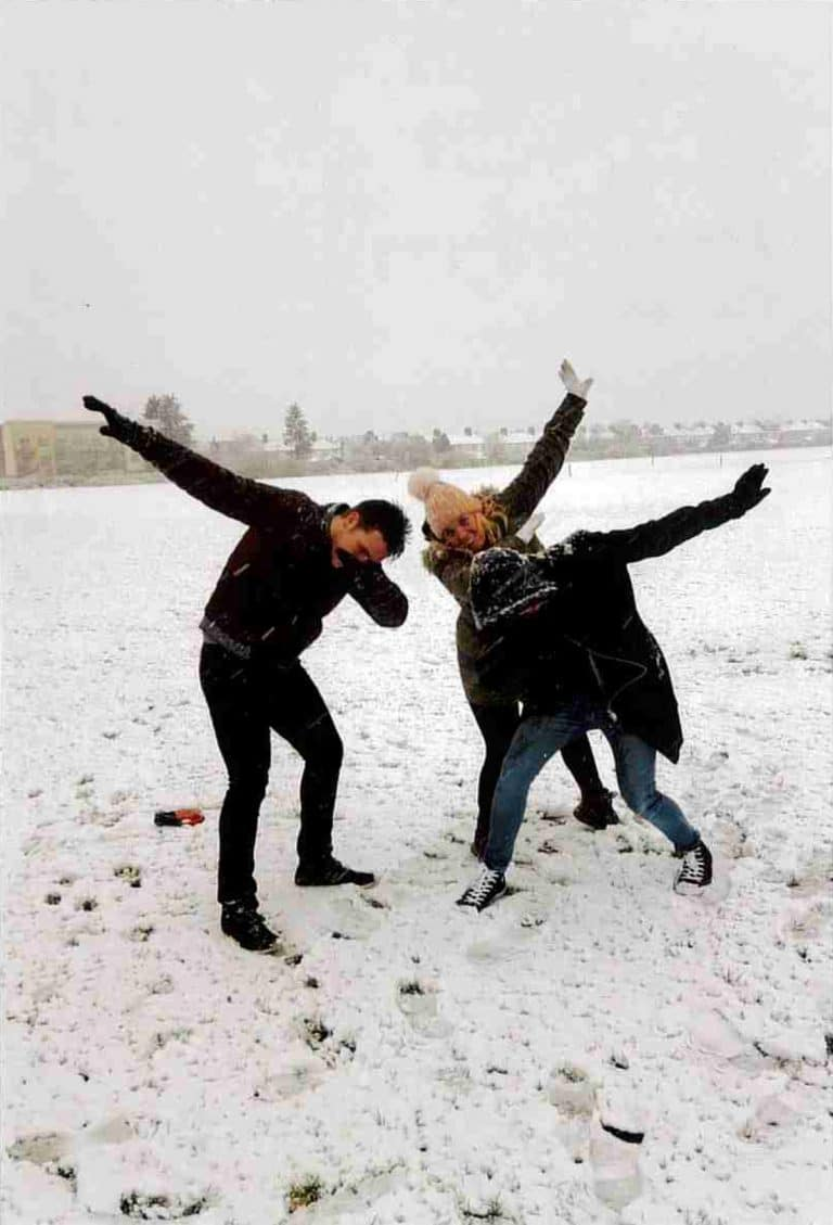 Winter 2018. Happy times. Harry enjoying the snow with his mum and brother. We always had the best of times. Harry is so close with his dear brother Jack.