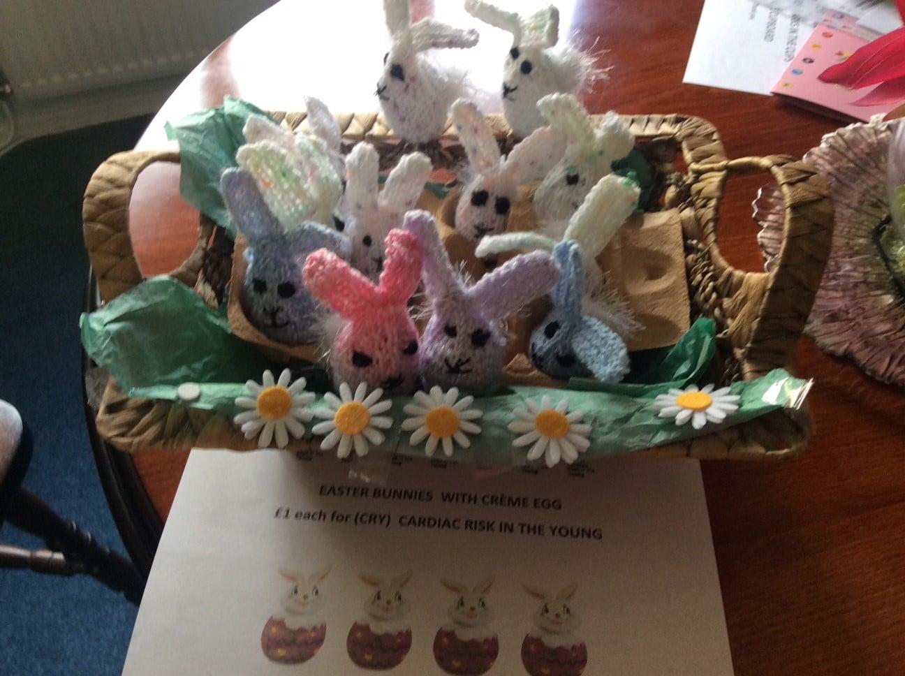 Creme egg easter bunnies